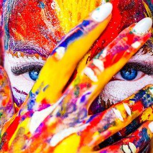 visage en couleur